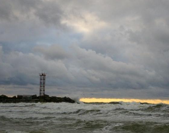 Audra jūroje – Klaipėdos molas (video)