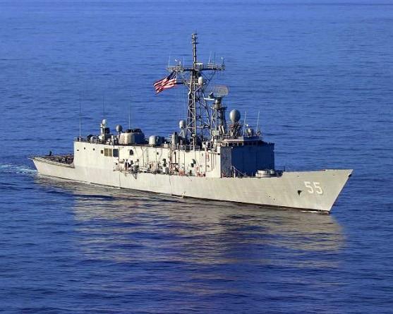 """JAV karinio laivyno fregatoje """"USS Elrod"""""""